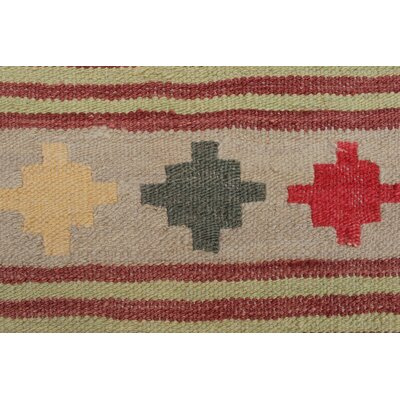 Rucker Kilim Hand Woven Wool Gray/Brown Southwestern Area Rug
