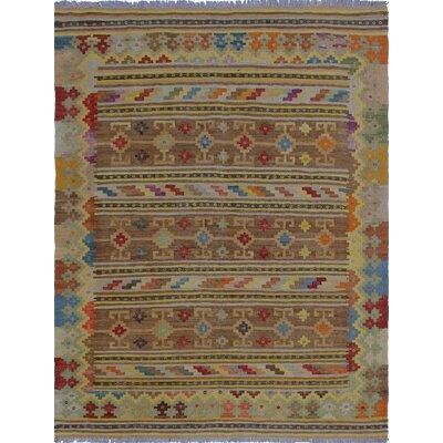 Vallejo Kilim Hand Woven Wool Beige/Brown Southwestern Area Rug