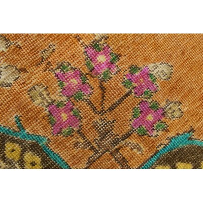 Lexington Avenue Vintage Distressed Overdyed Hand Knotted Wool Rust Area Rug