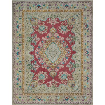 Carriage Hill Vintage Distressed Overdyed Hand Knotted Wool Red Area Rug