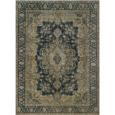 Osborne Vintage Distressed Overdyed Hand Knotted Wool Beige Area Rug