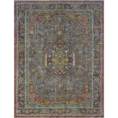Burdell Vintage Distressed Overdyed Hand Knotted Wool Gray Area Rug