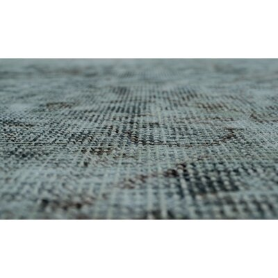 Amina Vintage Distressed Overdyed �Hand Knotted Wool Blue/Gray Area Rug