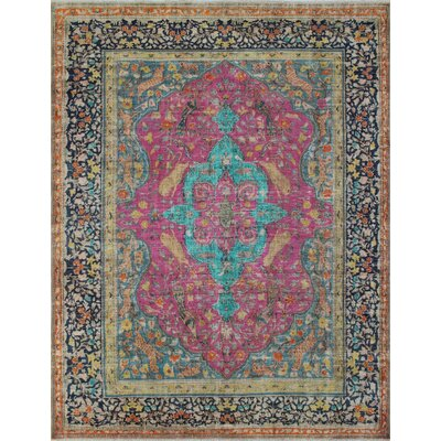 Cabo Vintage Distressed Overdyed Hand Knotted Wool Pink Area Rug
