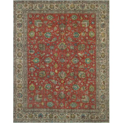 Vesper Vintage Distressed Overdyed Hand Knotted Wool Rust Area Rug