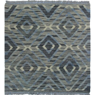 Ackworth Kilim Hand Knotted Wool Gray Area Rug