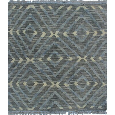 Ackworth Kilim Hand Woven 100% Wool Rectangle Gray Area Rug