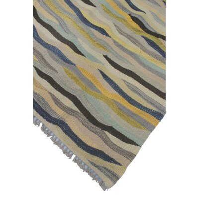 Troy Kilim Hand Woven Wool Rectangle Gray Area Rug