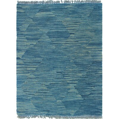 Ackworth Kilim Hand Knotted Wool Green Area Rug