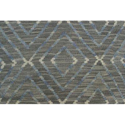 Ackworth Kilim Hand Woven Premium Wool Gray Area Rug