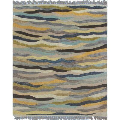 Troy Kilim Hand Woven Wool Gray Area Rug