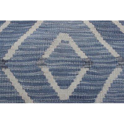 Ackworth Kilim Hand Woven 100% Premium Wool Gray Area Rug