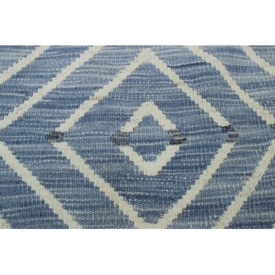 Ackworth Kilim Hand Woven Wool Rectangle Gray Geometric Area Rug