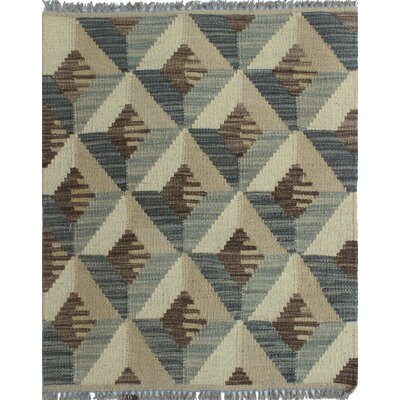 Ackworth Traditional Kilim Hand Woven 100% Wool Gray Area Rug Rug Size: Rectangle 110 x 24
