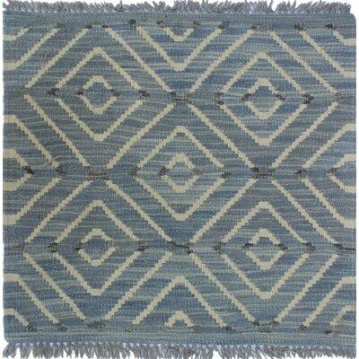 Ackworth Kilim Hand Woven Wool Gray Geometric Area Rug Rug Size: Rectangle 2 x 111