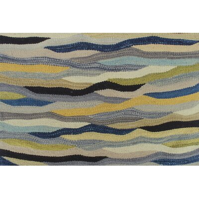 Troy Kilim Hand Woven 100% Wool Rectangle Gray Area Rug