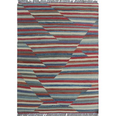 Troy Kilim Hand Woven Wool Rust Area Rug