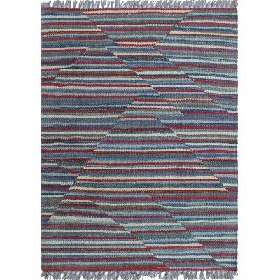 Troy Kilim Hand Woven Wool Gray Geometric Area Rug