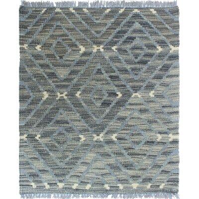 Ackworth Kilim Hand Woven Wool Rectangle Gray Fringe Area Rug