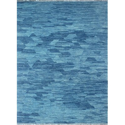 Ackworth Traditional Kilim Hand 100% Woven Wool Blue Area Rug Rug Size: Rectangle 9 x 121