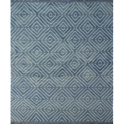 Ackworth Traditional Kilim Hand Woven Premium Wool Gray Area Rug Rug Size: Rectangle 88 x 102