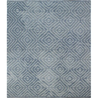 Ackworth Traditional Kilim Hand Woven Premium Wool Gray Area Rug Rug Size: Rectangle 86 x 10