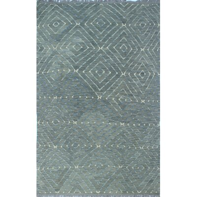 Ackworth Kilim Hand Woven Wool Gray Area Rug