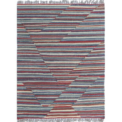 Troy Traditional Kilim Hand Woven Wool Red Area Rug Rug Size: Rectangle 1'8