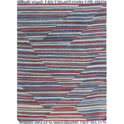 Troy Traditional Kilim Hand Woven Wool Red Area Rug Rug Size: Rectangle 29 x 24