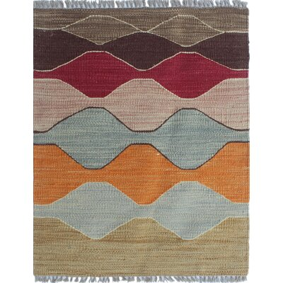 Troy Kilim Hand Woven Wool Red Area Rug