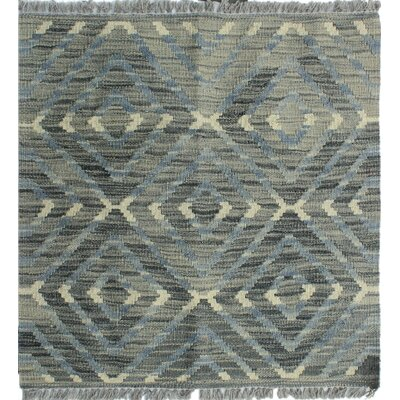 Ackworth Kilim Hand Woven Premium Wool Gray Fringe Area Rug Rug Size: Rectangle 111 x 21