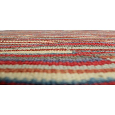Troy Kilim Hand Woven Wool Rectangle Red Area Rug