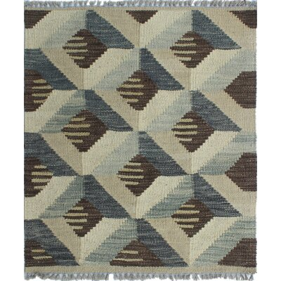 Altjira Kilim Hand woven Wool Gray Area Rug Rug Size: Rectangle 1'9