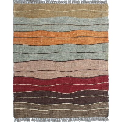 Troy Traditional Kilim Hand Woven Wool Rectangle Brown Area Rug