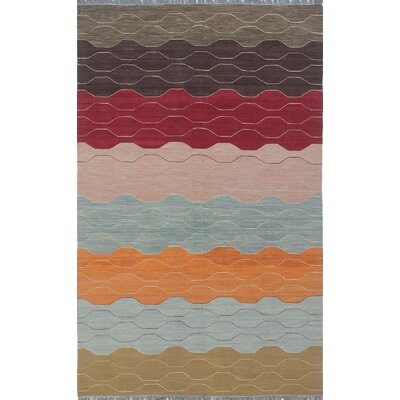 Troy Traditional Kilim Hand Woven Wool Brown Area Rug Rug Size: Rectangle 62 x 95
