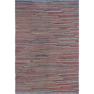 Troy Kilim Rusty Hand Woven Wool Rectangle Red Area Rug
