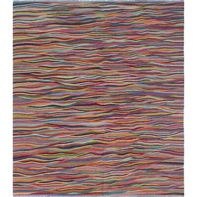 Troy Kilim Hand Woven Wool Pink Area Rug