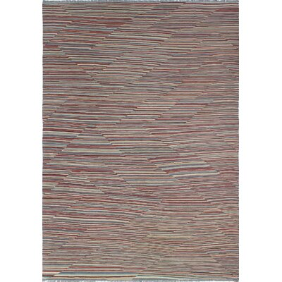 Troy Kilim Hand Woven Wool Rectangle Rust Area Rug