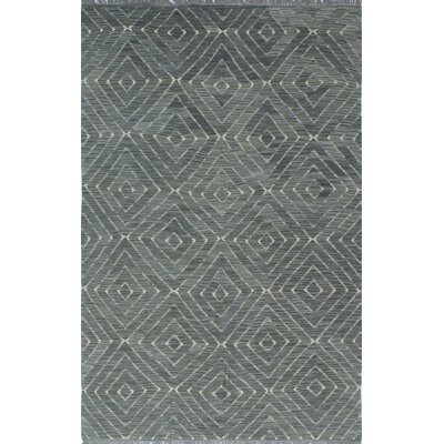 Ackworth Kilim Hand Woven 100% Wool Gray Area Rug