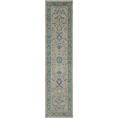 Turner Oriental Chobi Knotted Wool Gray Area Rug