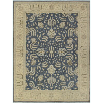 Turner Chobi Knotted Wool Rectangle Gray Area Rug