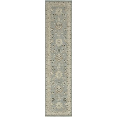 Turner Traditional Chobi Knotted Wool Gray Area Rug