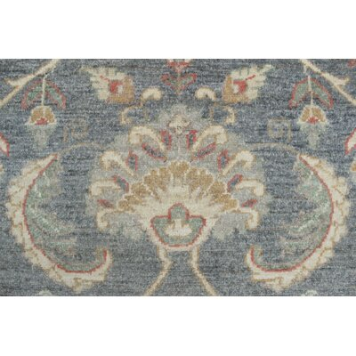 Turner Chobi Knotted 100% Wool Rectangle Gray Area Rug
