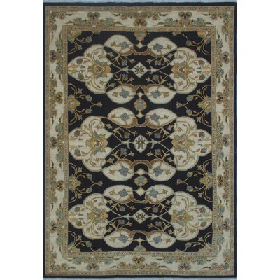 Turner Chobi Knotted Wool Black Area Rug