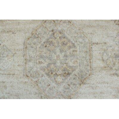 Longoria Chobi Ivory Knotted Wool Area Rug