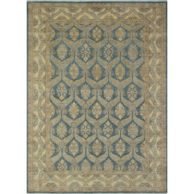 Turner Oriental Chobi Knotted 100% Wool Blue Area Rug