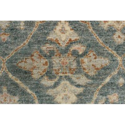 Longoria Chobi Knotted Wool Gray Area Rug