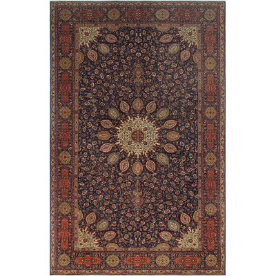 Dreyer Hand Knotted Wool Blue Area Rug