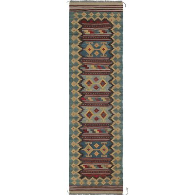 Rucker Traditional Kilim Hand Woven 100% Wool Beige Southwestern Area Rug