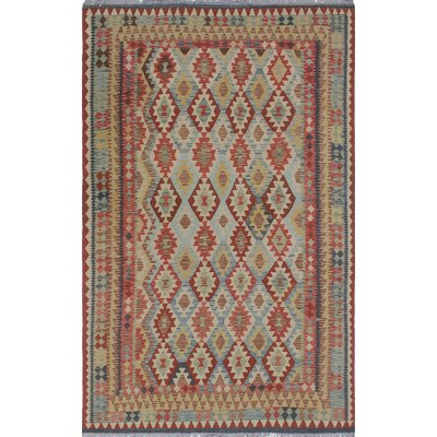 Vallejo Kilim Hand Woven Premium Wool Rectangle Beige Area Rug